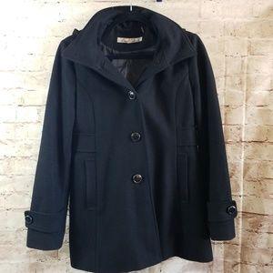 Wool Blend Peacoat Jacket